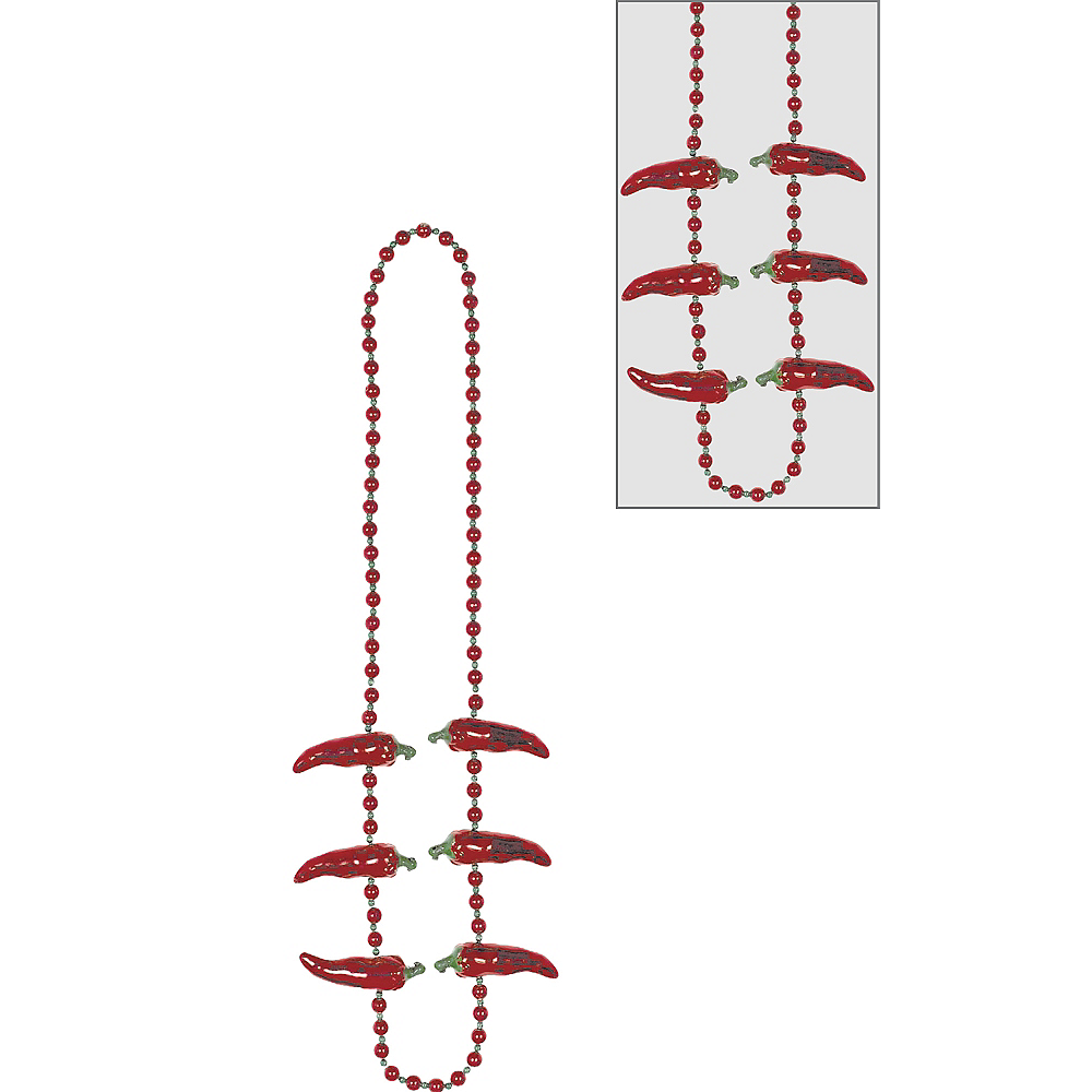 Chili Pepper Bead Necklace Image #1