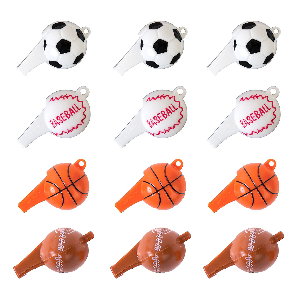 Sports Ball Whistles 12ct Image #1