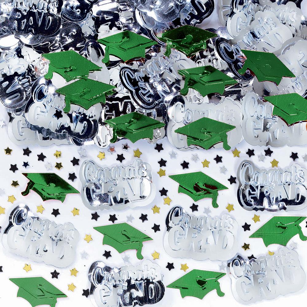 Metallic Green Graduation Confetti Image #1