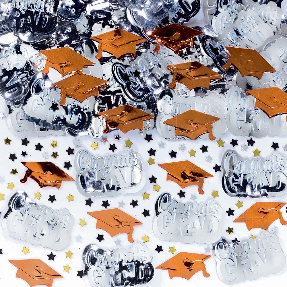 Metallic Orange Graduation Confetti Image #1