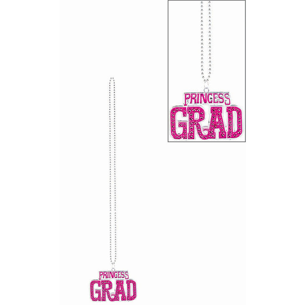 Princess Grad Bling Bead Graduation Necklace Image #1