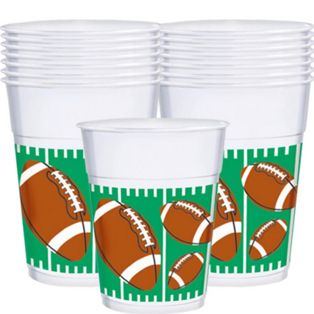 Football Plastic Cups 25ct Image #1
