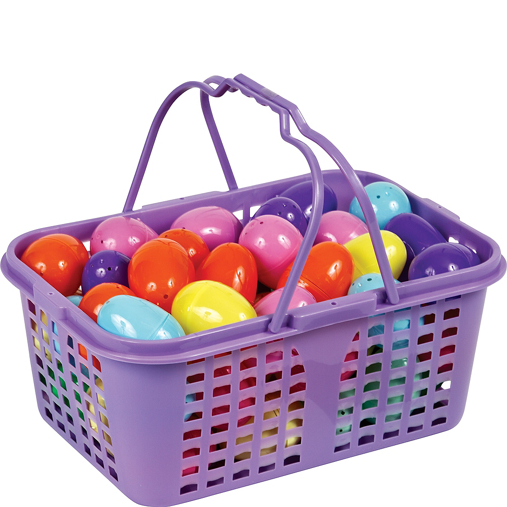 Fillable Easter Eggs in Basket 60ct Image #2