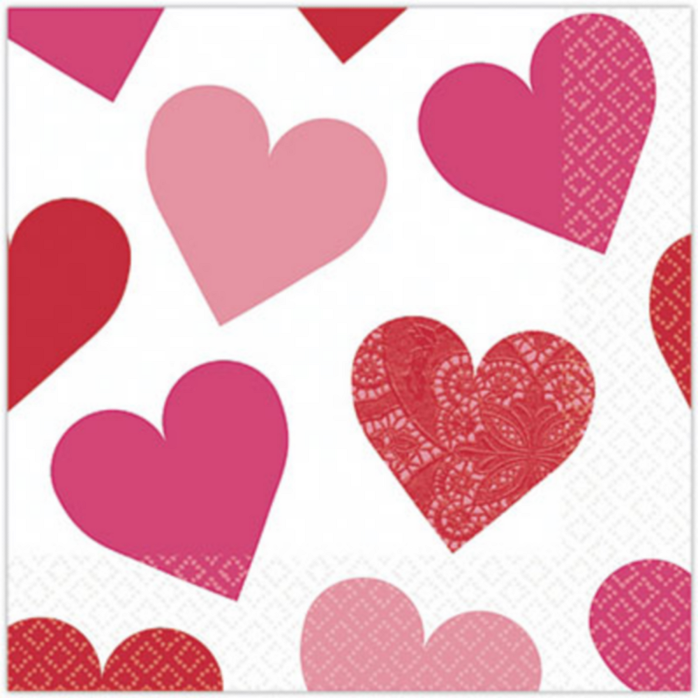 Key to Your Heart Valentine's Day Beverage Napkins 16ct Image #1