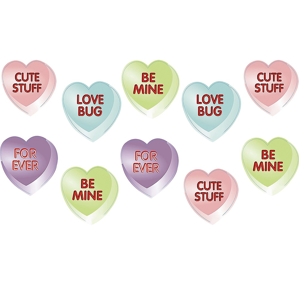 Nav Item for Conversation Heart Cutouts 10ct Image #1