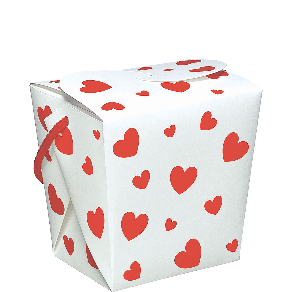 Red Hearts Favor Box Image #1