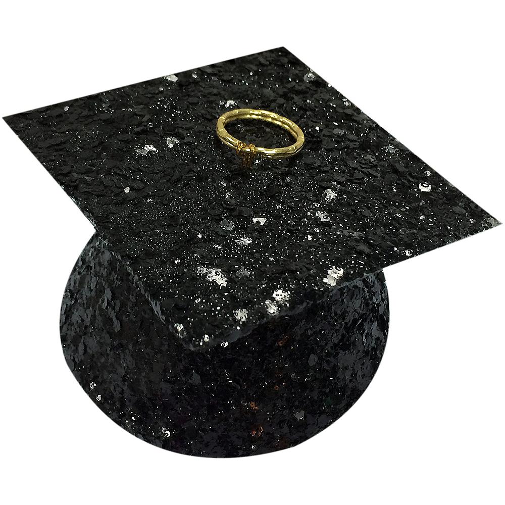 Black Glitter Graduation Balloon Weight Image #1