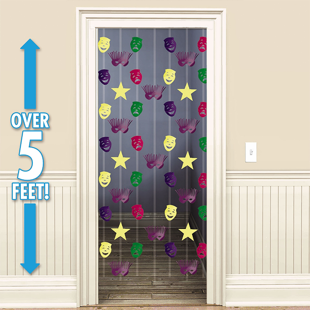 Mardi Gras Doorway Curtain Image #1