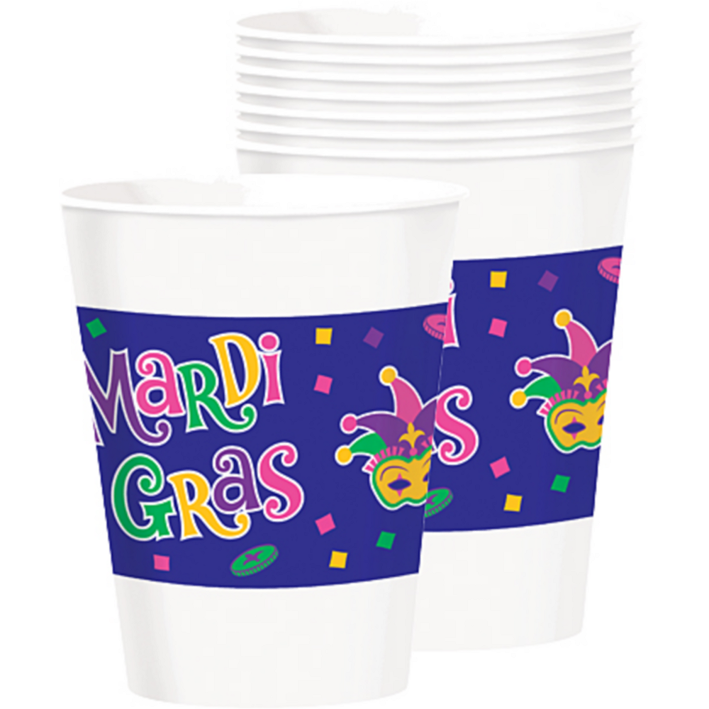 Mardi Gras Party Cups 25ct Image #1