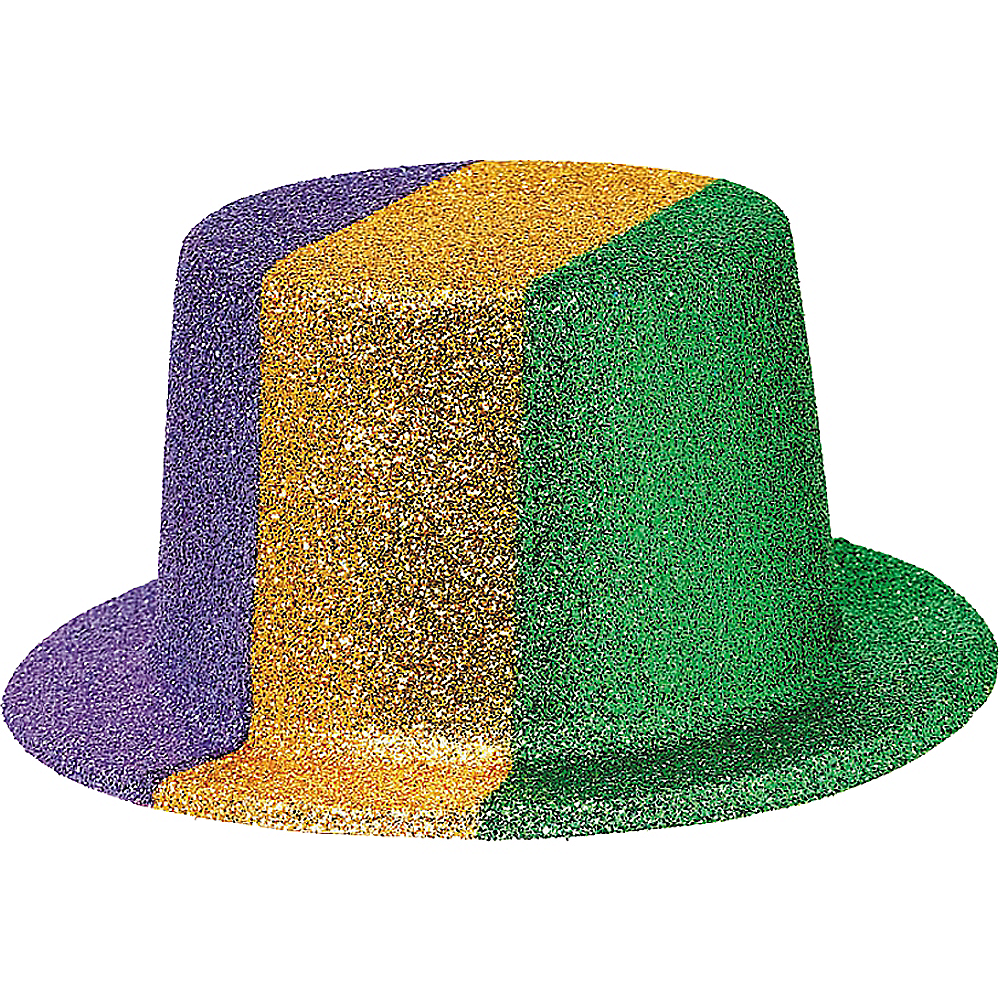 Nav Item for Glitter Mardi Gras Top Hat Image #1