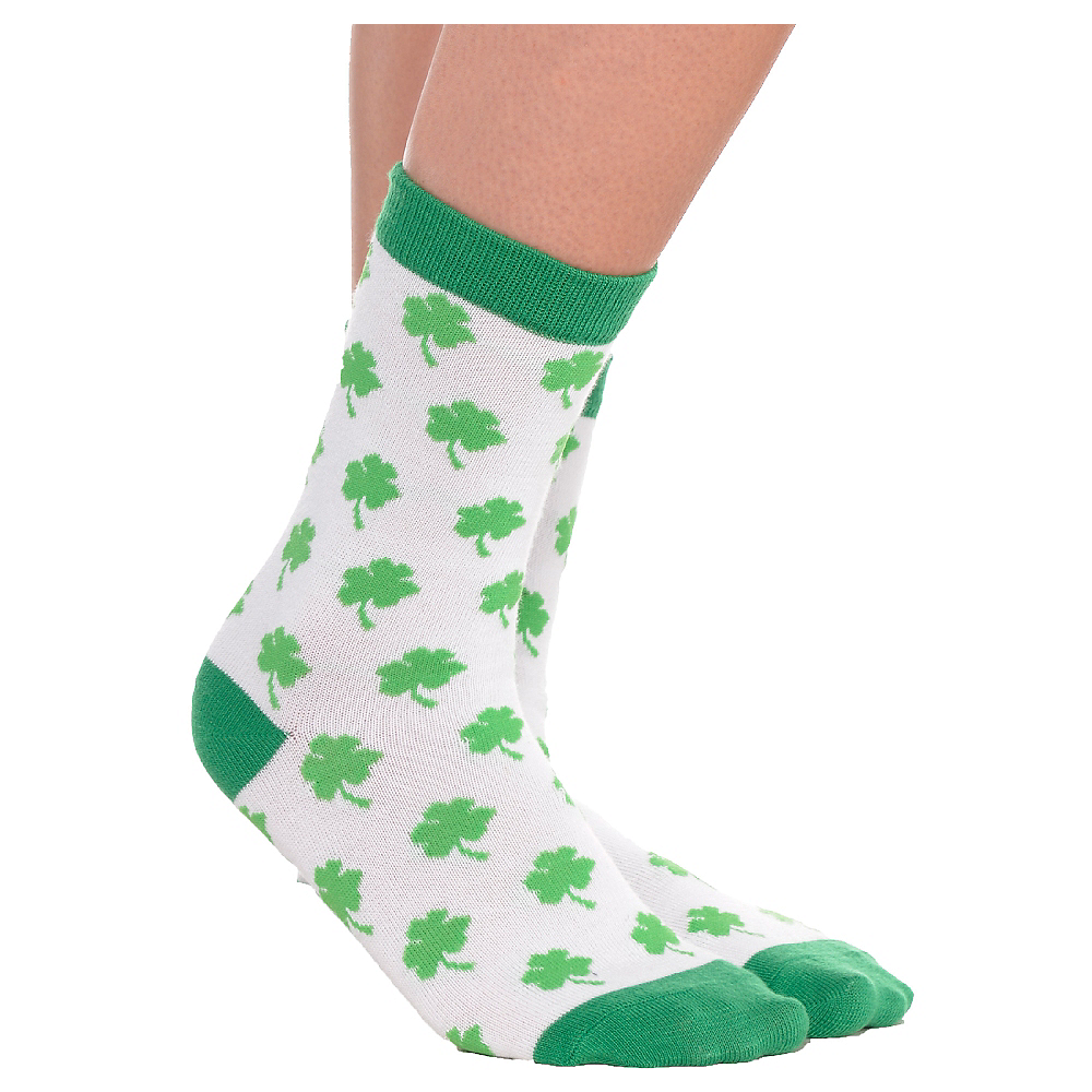 Adult Shamrock Crew Socks Image #1