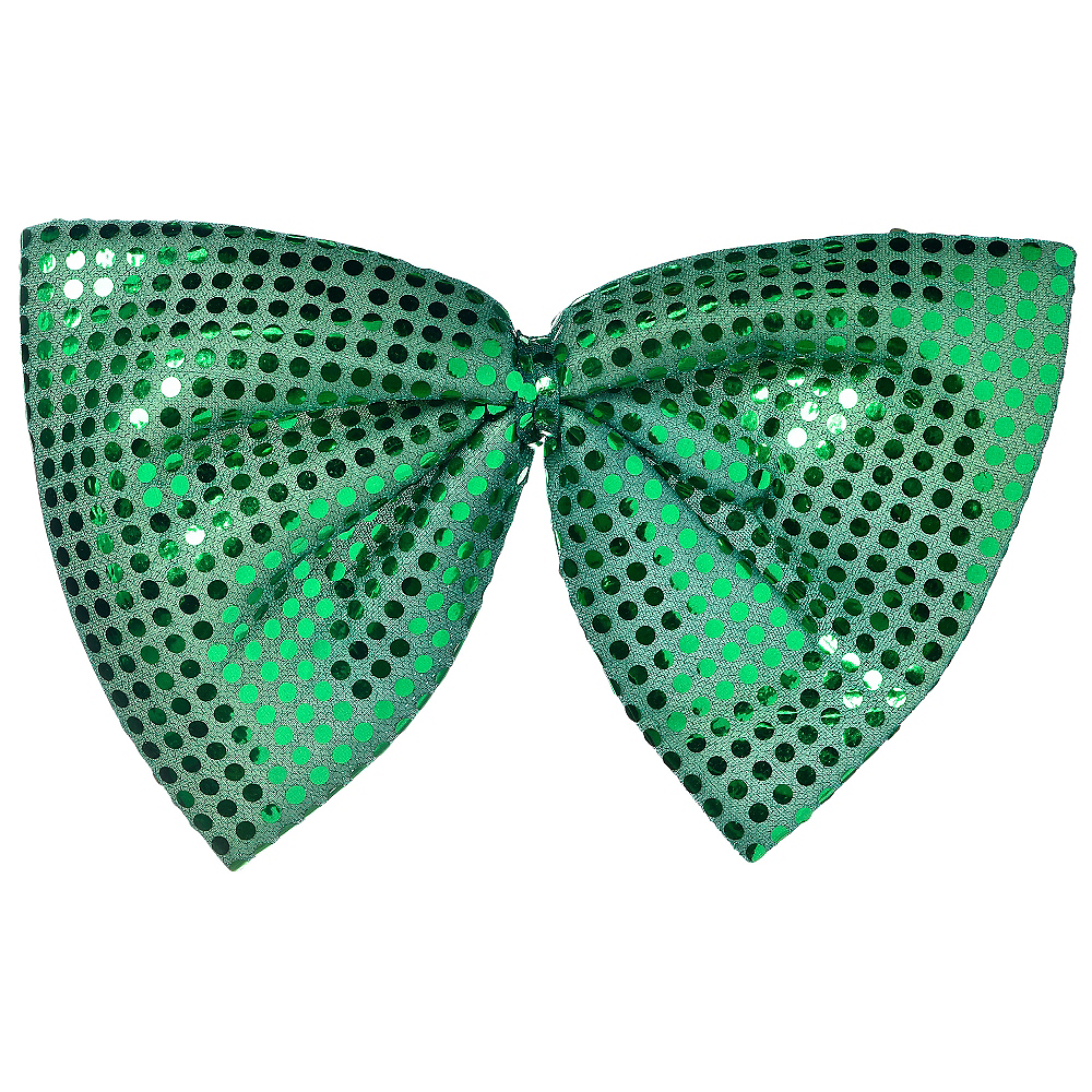 Giant Green Sequin Bow Tie Image #1