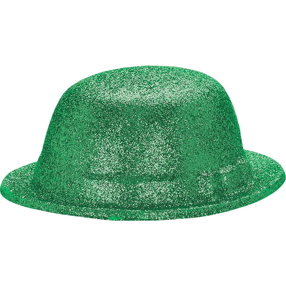 Glitter St. Patrick's Day Derby Hat Image #2