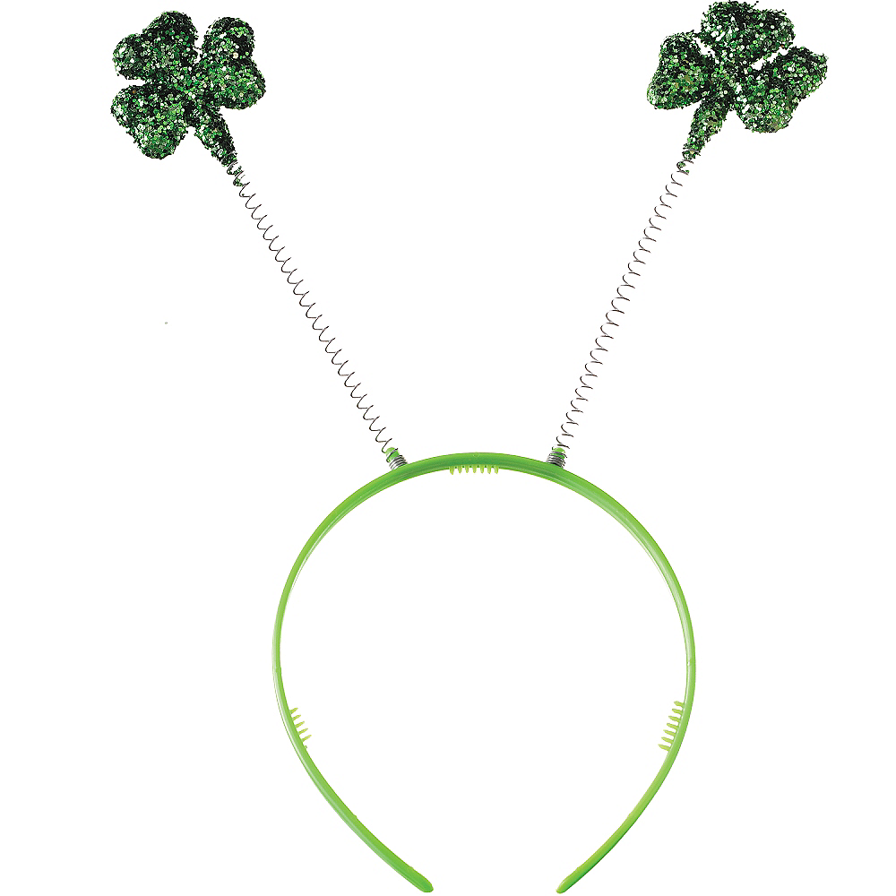 Nav Item for Glitter Shamrock Head Bopper Image #1