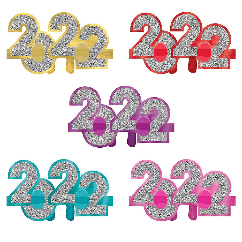 Glitter Multicolor 2020 Glasses 6ct Image #1