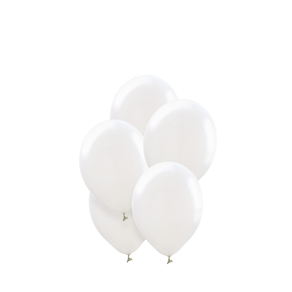 Mini White Balloons 50ct, 5in Image #1