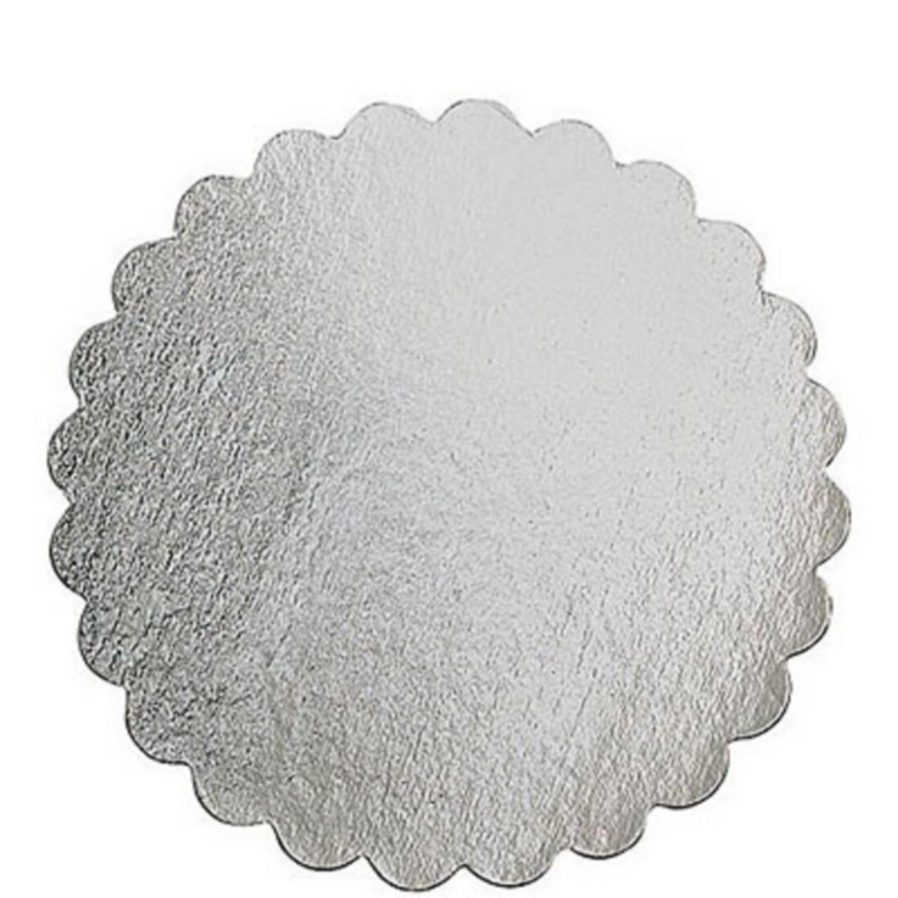 Silver 14in Round Cake Board Image #1