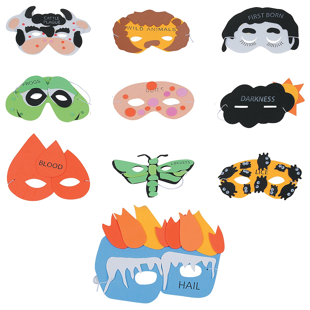 Passover Plague Masks 10ct Image #1