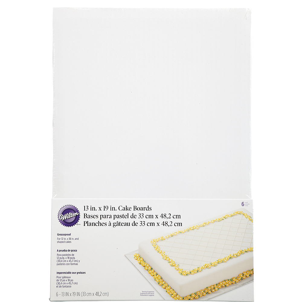 Nav Item for Wilton Large White Cake Boards 6ct Image #1