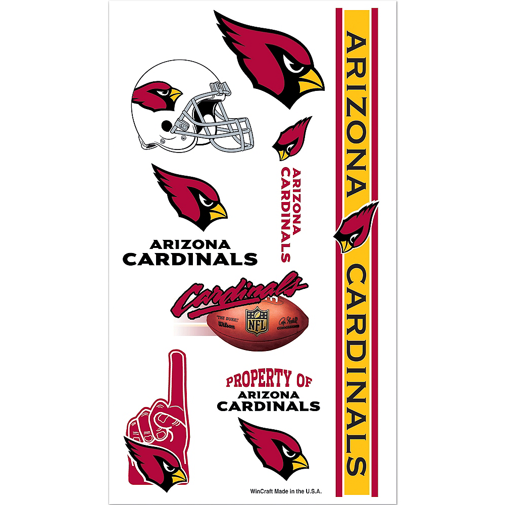 Arizona Cardinals Tattoos 10ct Image #1