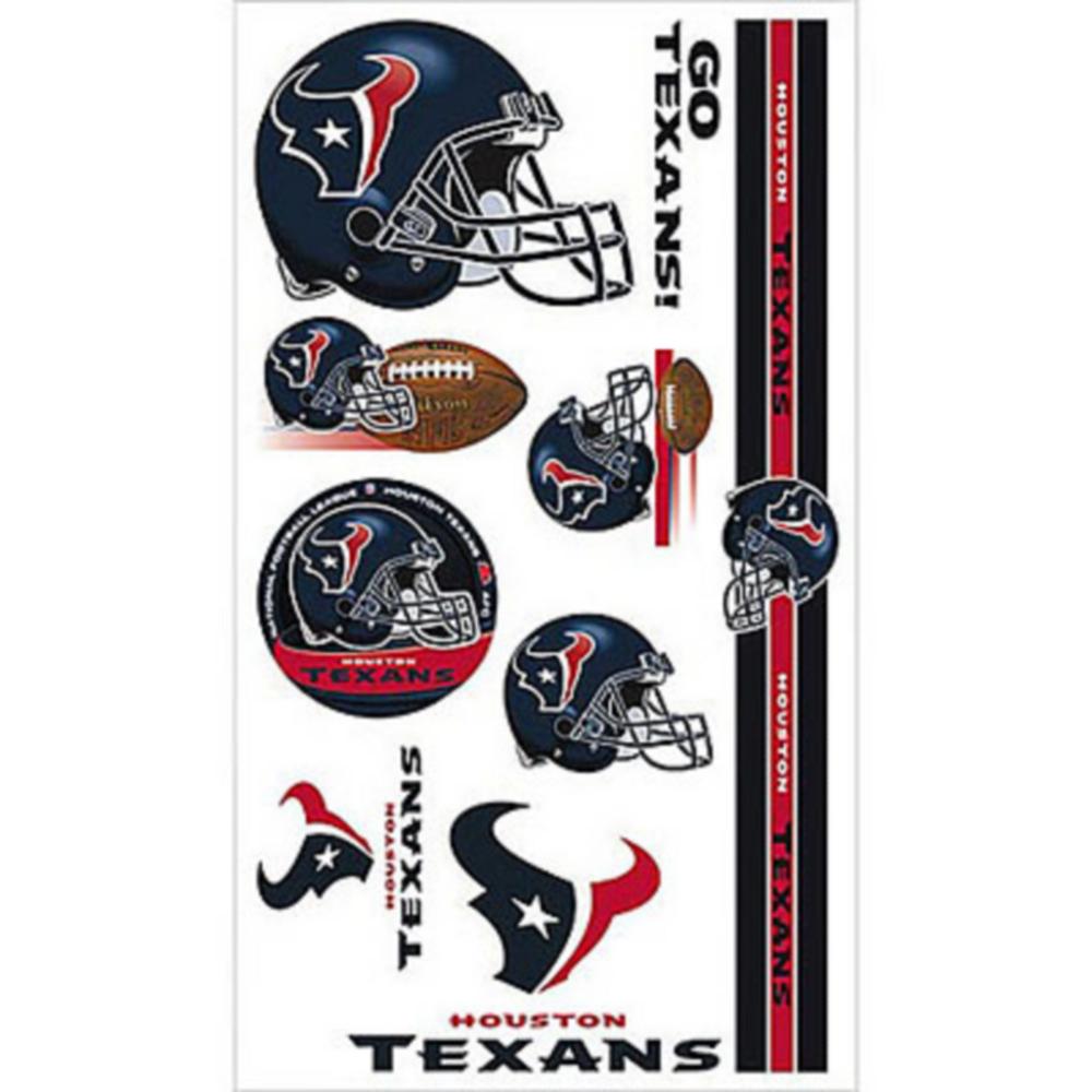 Houston Texans Tattoos 10ct Image #1