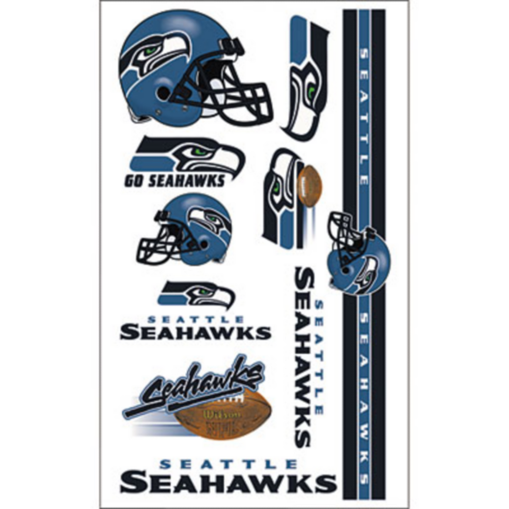 Seattle Seahawks Tattoos 10ct Image #1