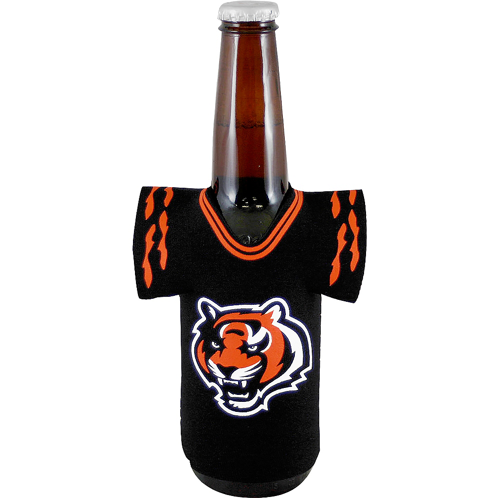 Nav Item for Cincinnati Bengals Jersey Bottle Coozie Image #1