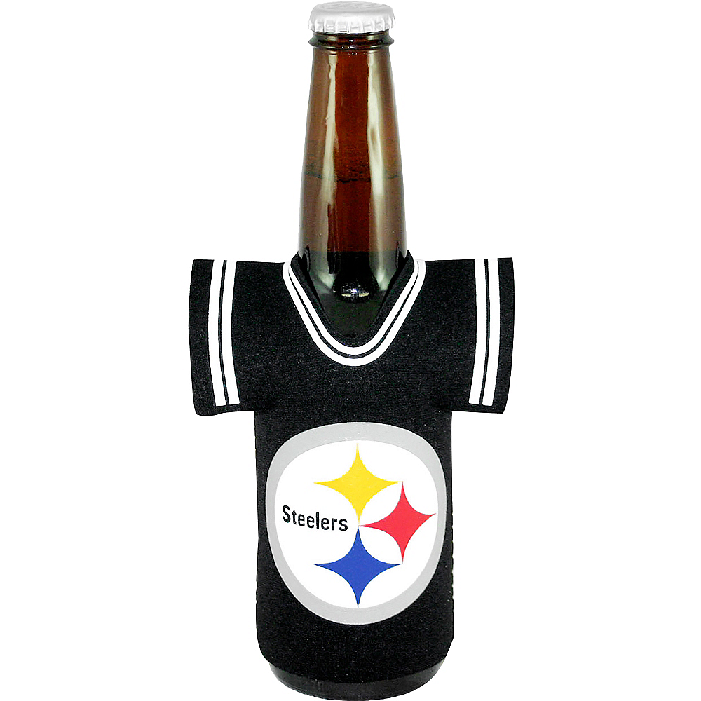 Pittsburgh Steelers Jersey Bottle Coozie 4 1 4in X 5 3 4in Party City