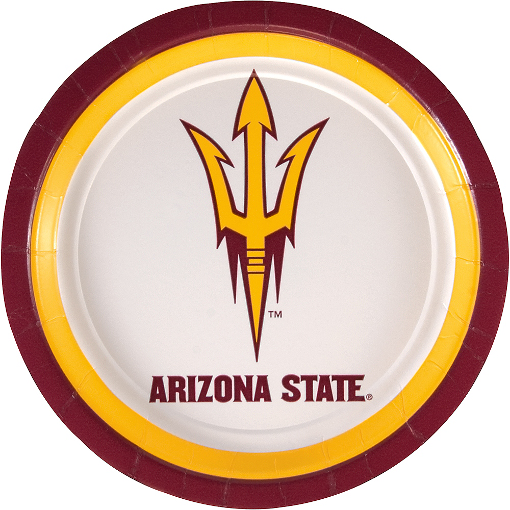 Arizona State Sun Devils Lunch Plates 8ct Image #1