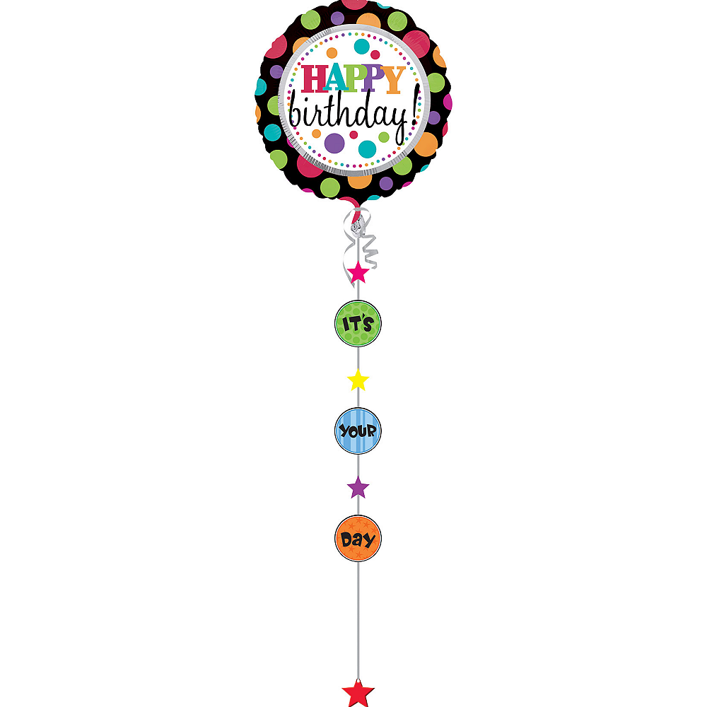 Happy Birthday Balloon - Drop a Line, 90in Image #2