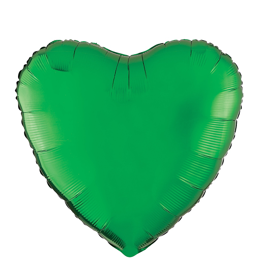 17in Festive Green Heart Balloon  Image #1