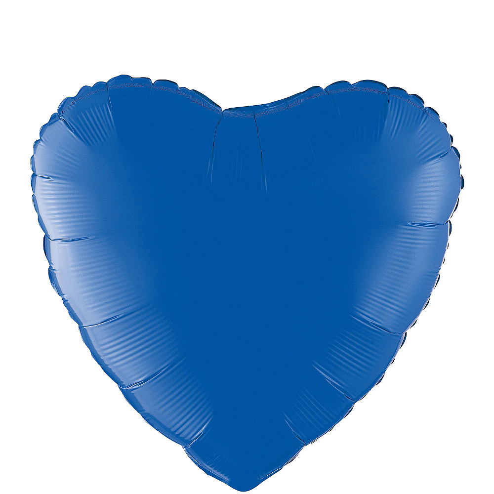 17in Blue Heart Balloon Image #1