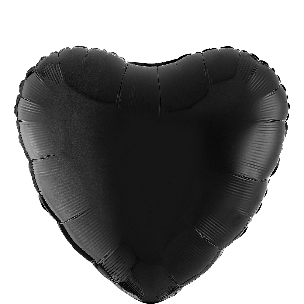 17in Black Heart Balloon Image #1