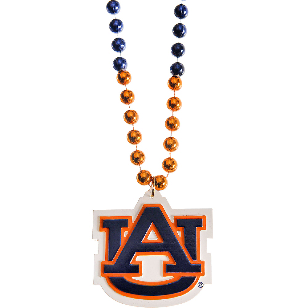 Auburn Tigers Pendant Bead Necklace Image #1