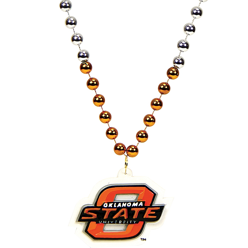 Oklahoma State Cowboys Bead Necklace 36in Image #1