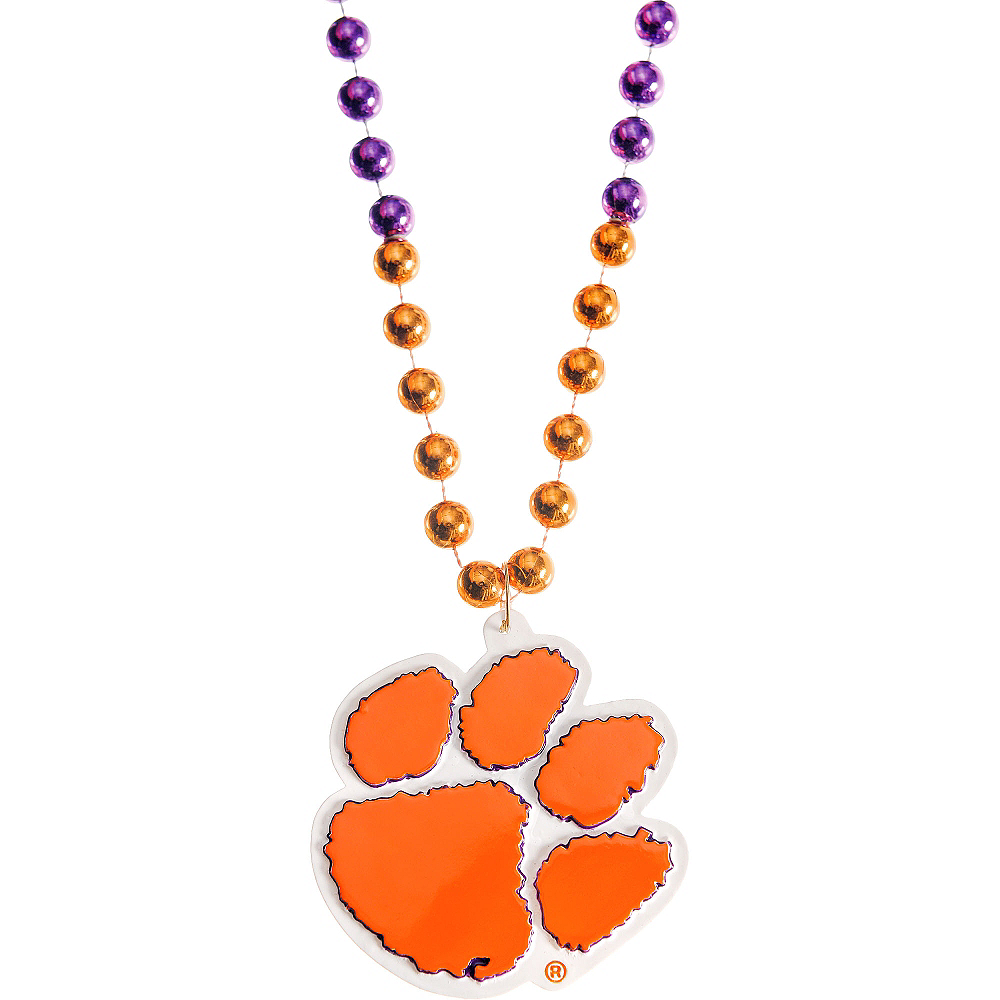 Nav Item for Clemson Tigers Pendant Bead Necklace Image #1