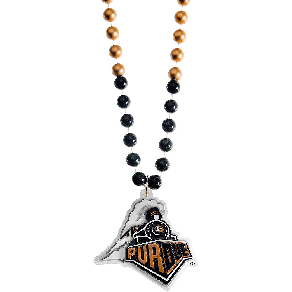 Nav Item for Purdue Boilermakers Pendant Bead Necklace Image #1