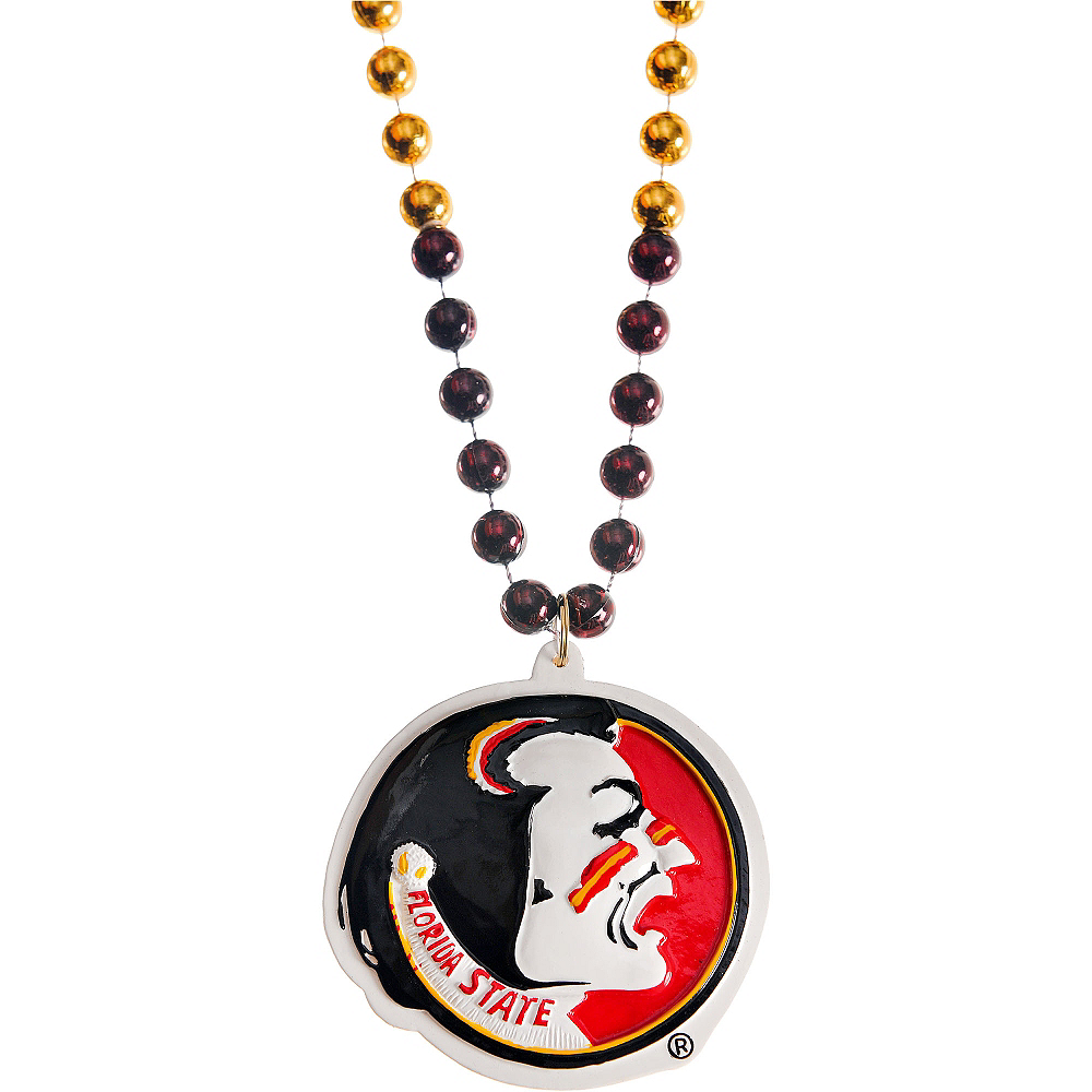 Nav Item for Florida State Seminoles Pendant Bead Necklace Image #1
