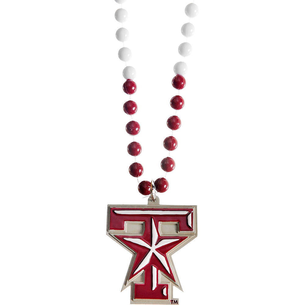 Texas A&M Aggies Pendant Bead Necklace Image #1