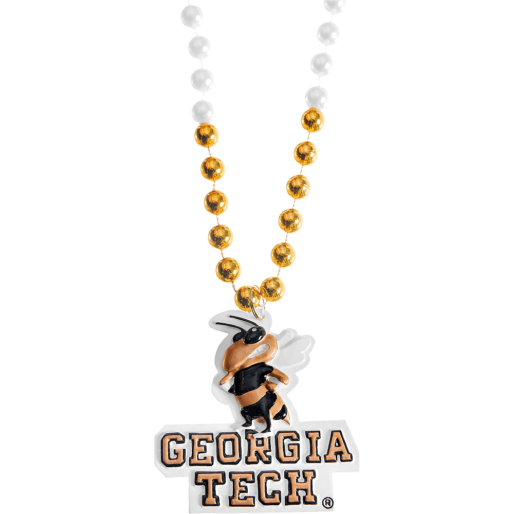 Georgia Tech Yellow Jackets Pendant Bead Necklace Image #1