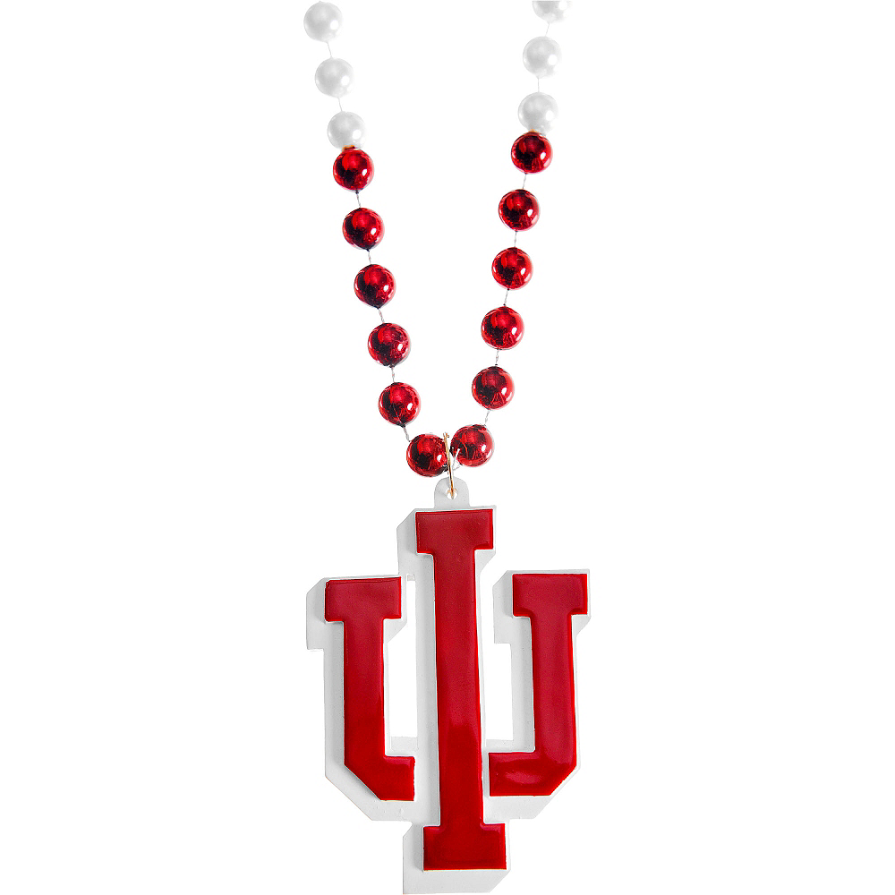 Nav Item for Indiana Hoosiers Pendant Bead Necklace Image #1