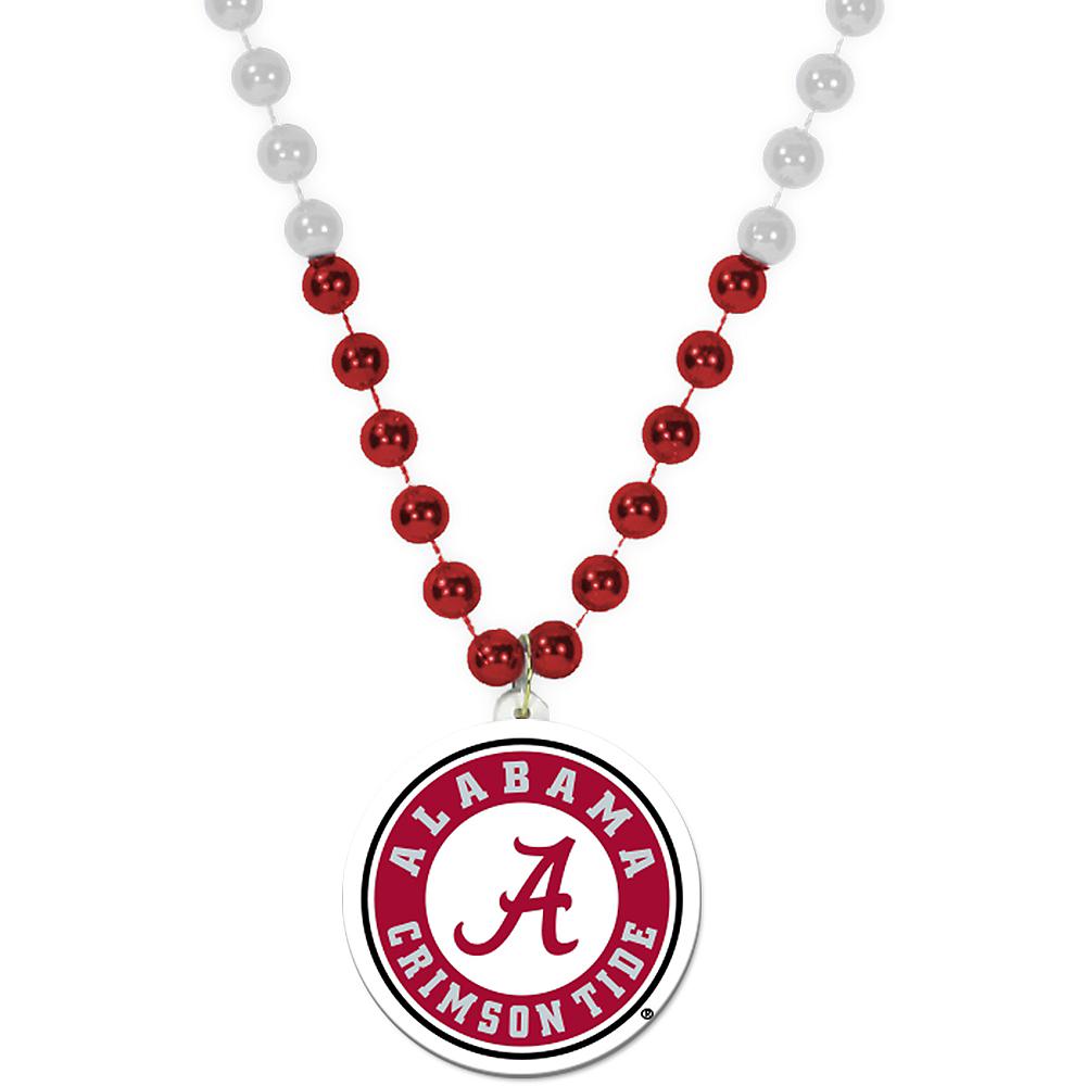 Alabama Crimson Tide Pendant Bead Necklace Image #1