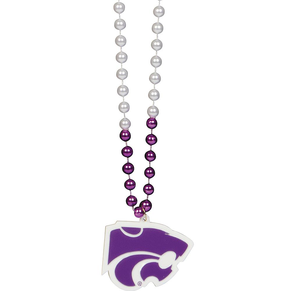 Kansas State Wildcats Pendant Bead Necklace Image #1