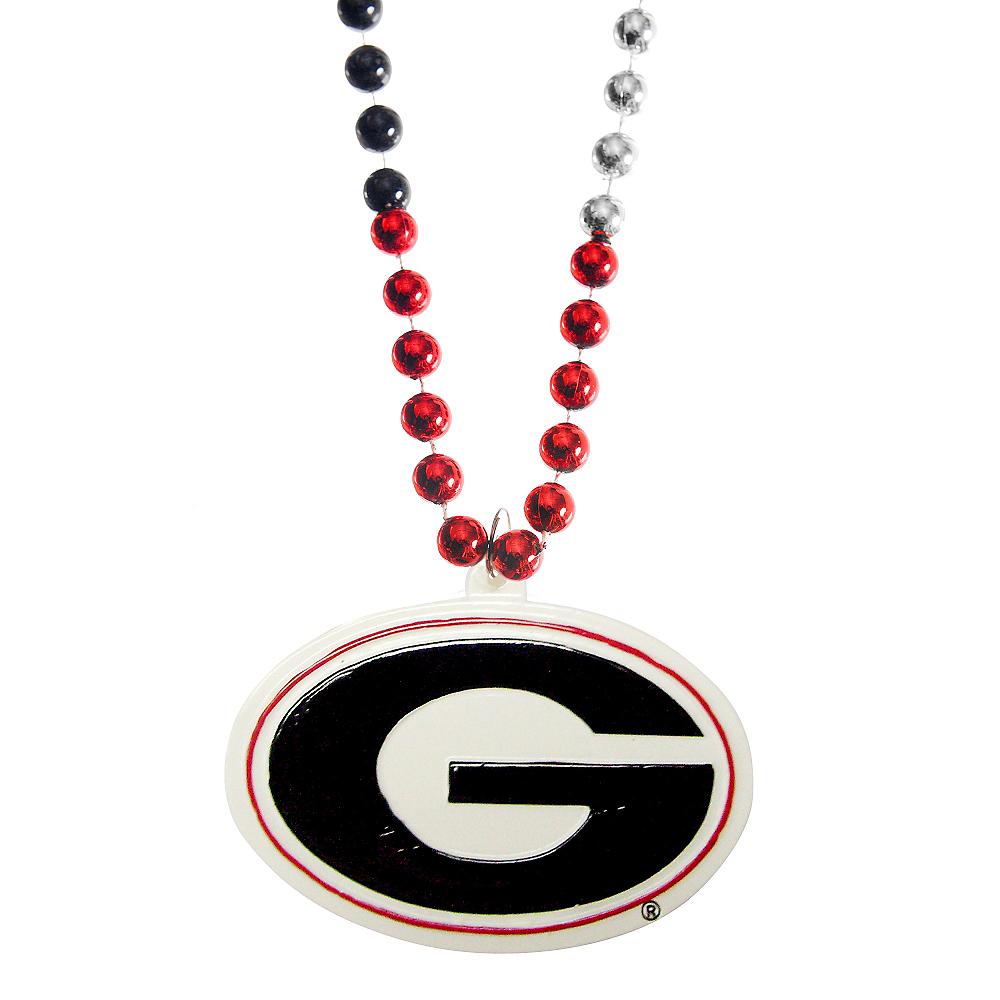 Georgia Bulldogs Pendant Bead Necklace Image #1