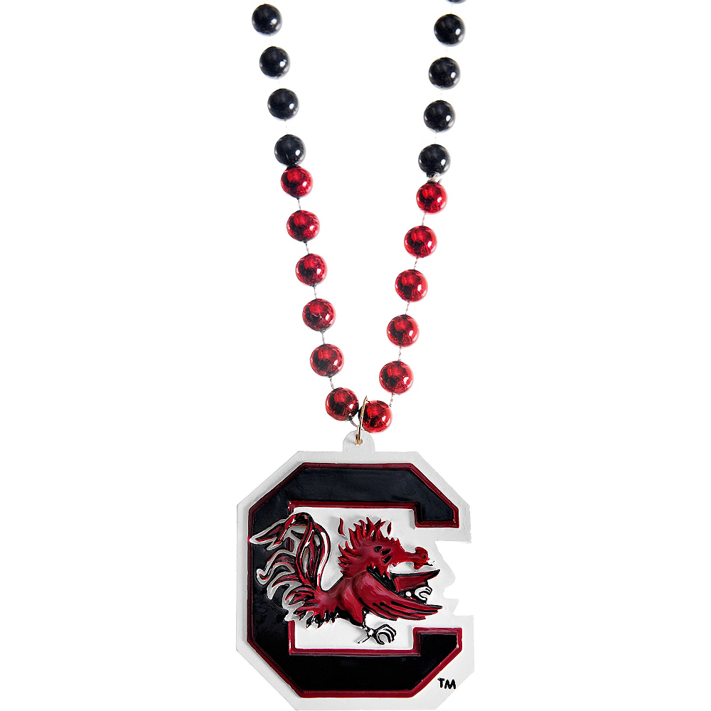 South Carolina Gamecocks Pendant Bead Necklace Image #1