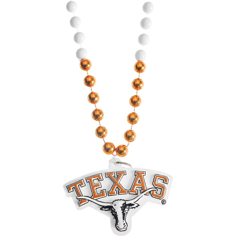 Texas Longhorns Pendant Bead Necklace Image #1