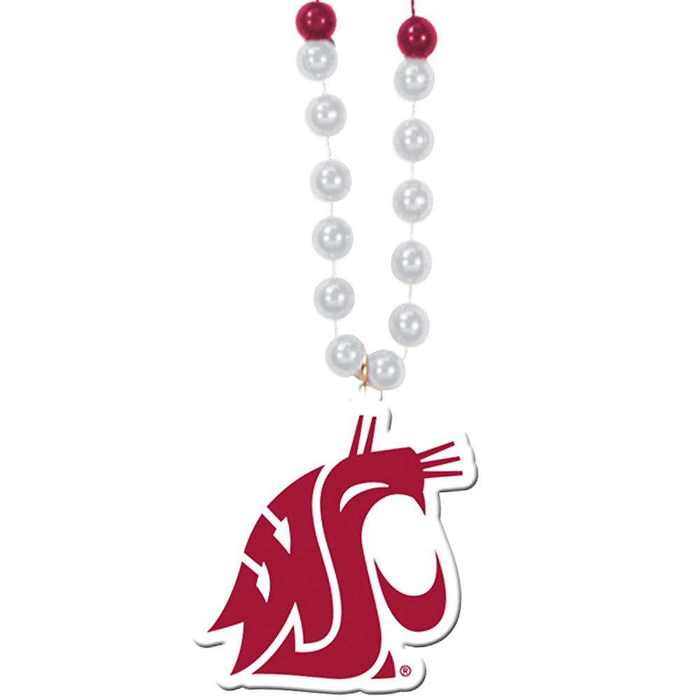 Washington State Cougars Pendant Bead Necklace Image #1