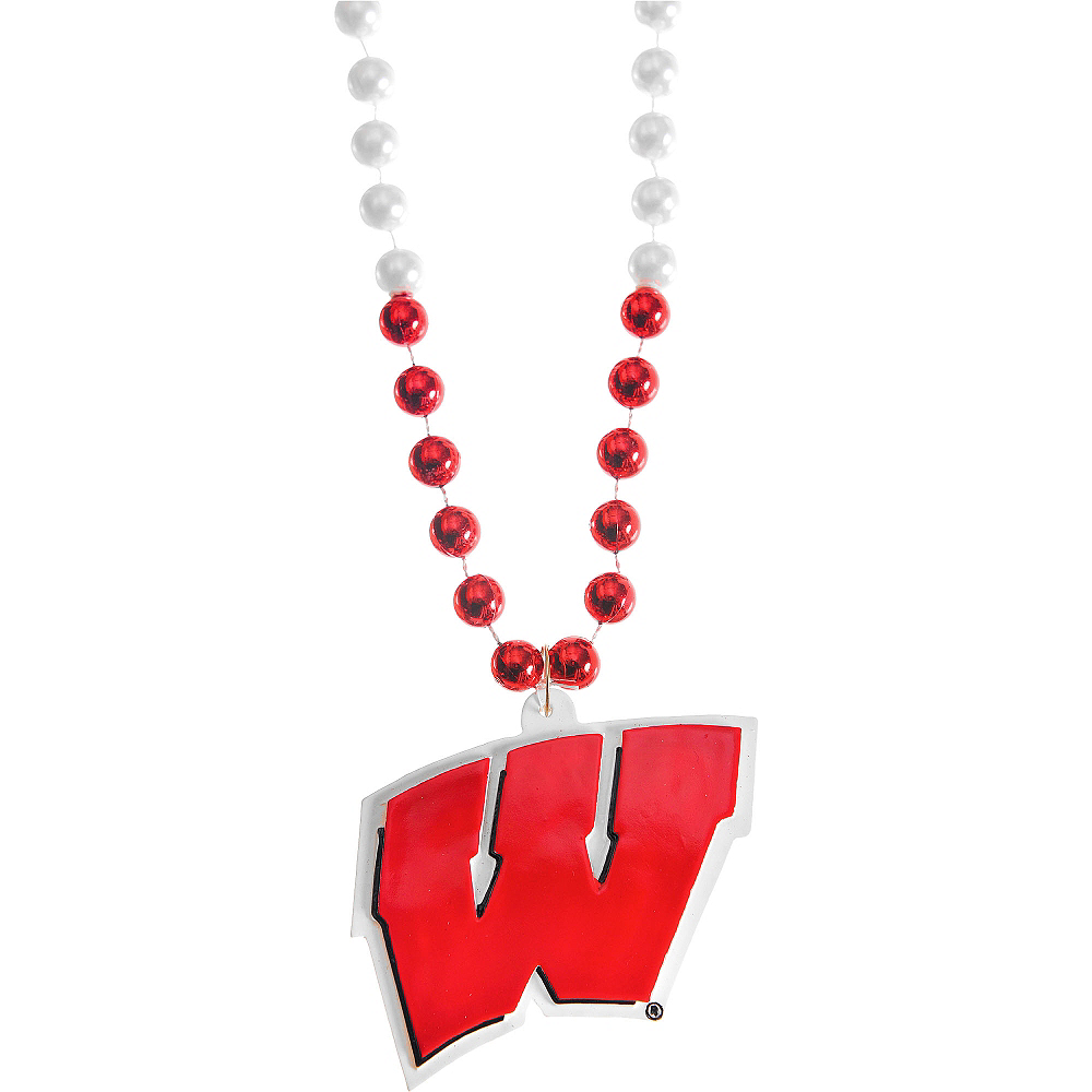 Wisconsin Badgers Pendant Bead Necklace Image #1