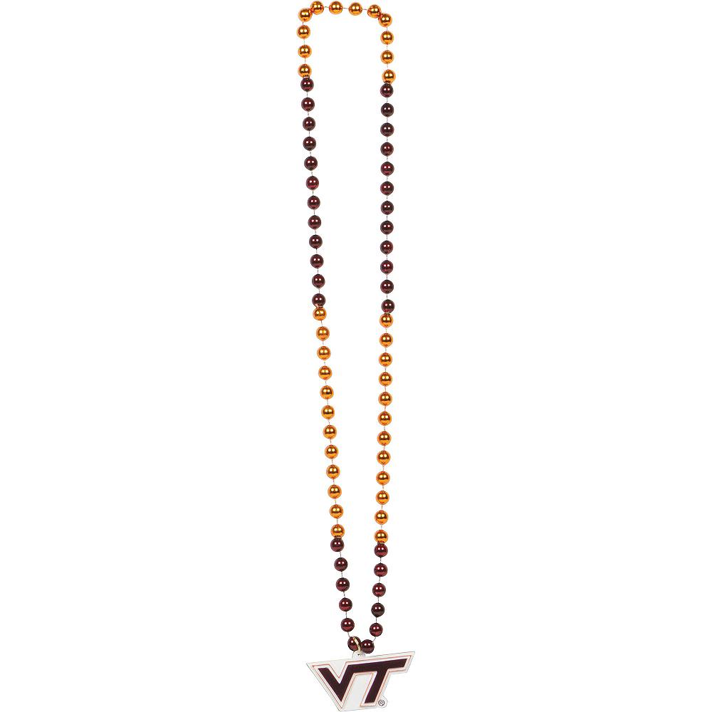 Virginia Tech Hokies Pendant Bead Necklace Image #1