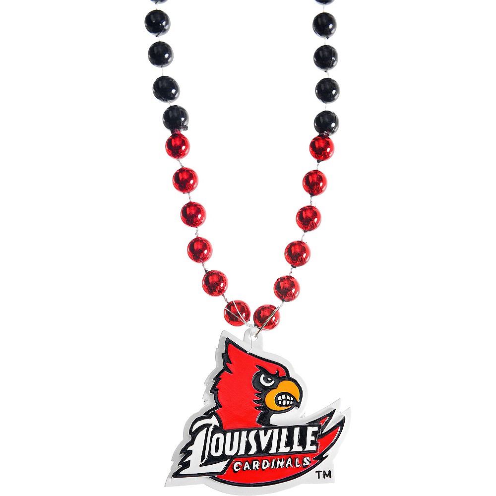 Nav Item for Louisville Cardinals Pendant Bead Necklace Image #1